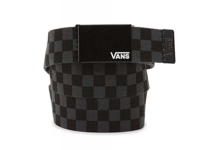 685e97e0a5d9 Shop Vans Apparel and Accessories DEPPSTER II WEB BELT BLK-CHAR ...