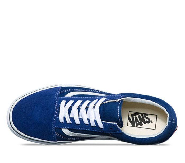 110e09dfddcf09 Shop Vans OLD SKOOL ESTATE BLUE TRUE WHT