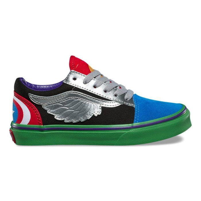 7b75f1170e7 Shop Vans OLD SKOOL(MARVEL AVENGERS MULT