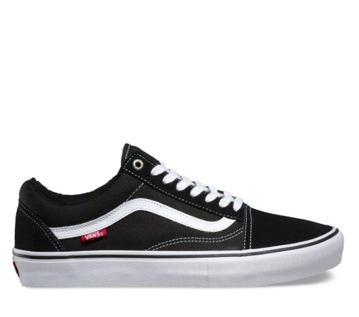 6df2bfc7629 Shop Vans OLD SKOOL PRO BLACK WHITE