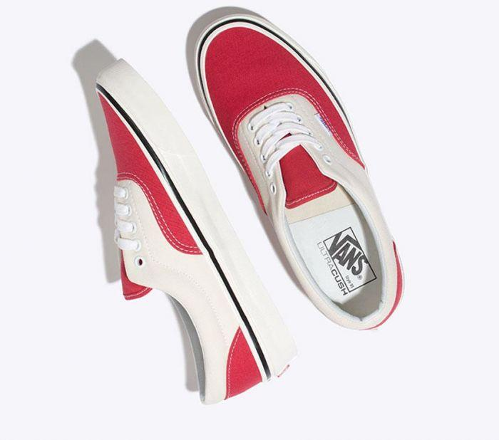 e2a6d36626 Shop Vans ERA 95 DX ANAHEIM RED WHITE