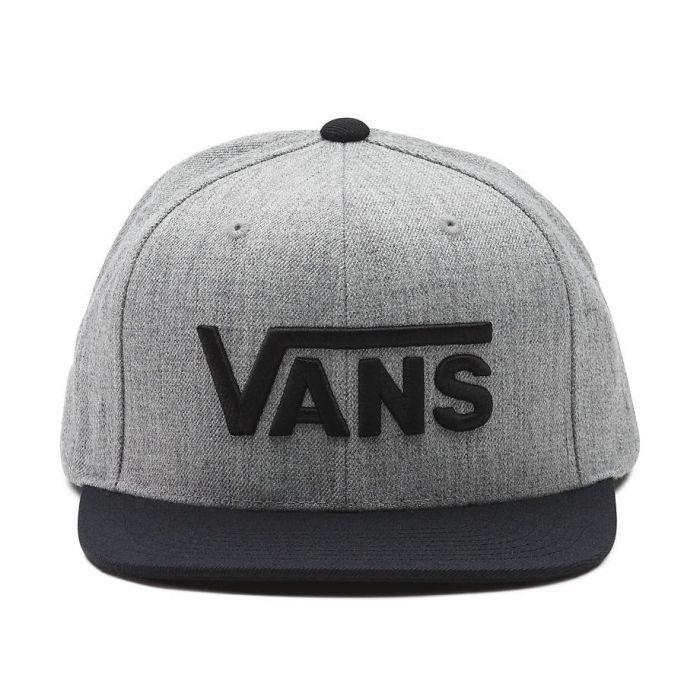 e6b3a5be119 Shop Vans Apparel and Accessories DROP V SNAPBACK HAT - GRY BLK ...
