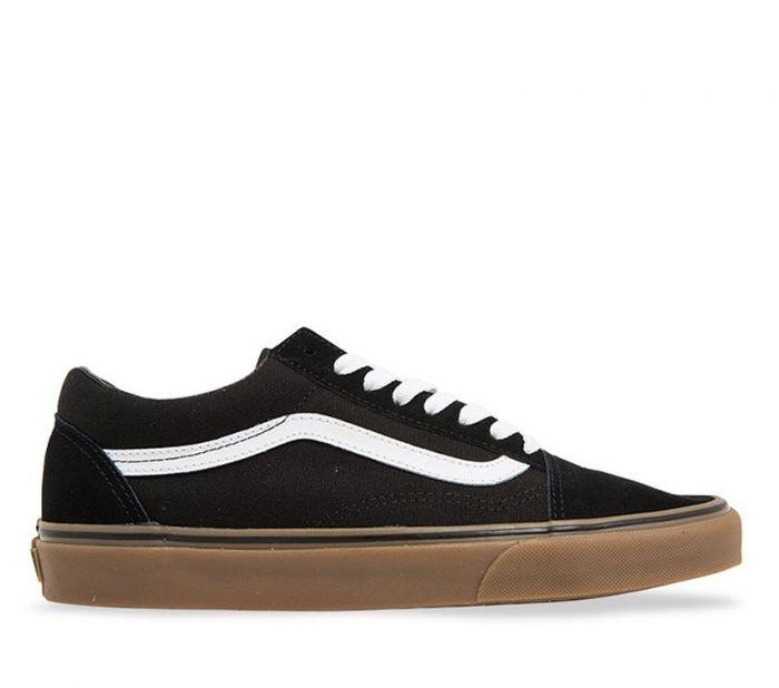 c4b2e501bdf Shop Vans Old Skool Gumsole Black Medium Gum