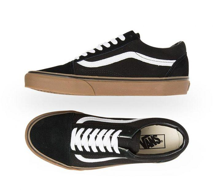 21cc637a Shop Vans Old Skool Gumsole Black/Medium Gum | Vans Australia