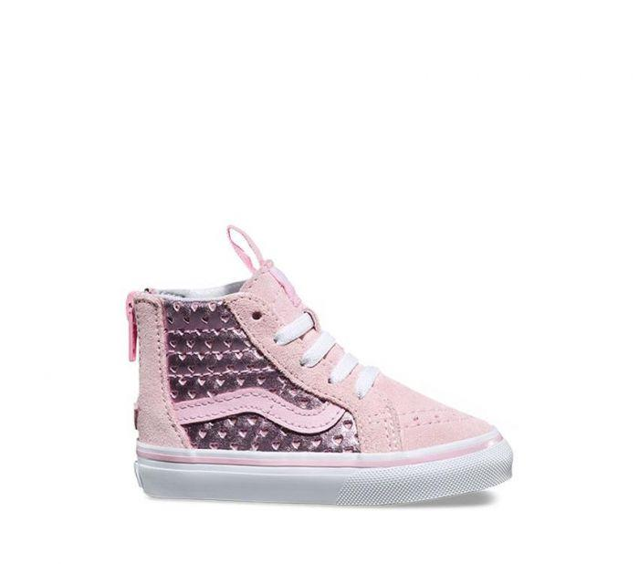 fe501679f9 Shop Vans Toddler Metallic Heart Perf Sk8-Hi Zip