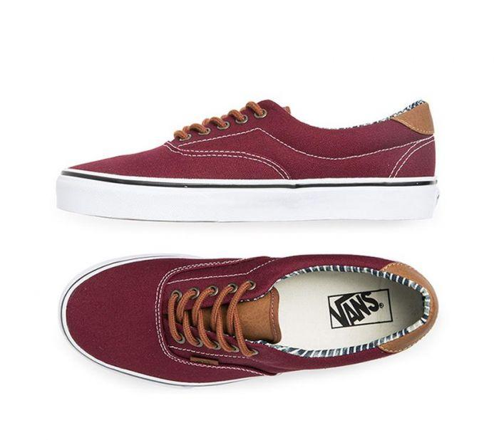 66ebdb27ac59 Shop Vans Era 59 Port Royale Stripe Denim