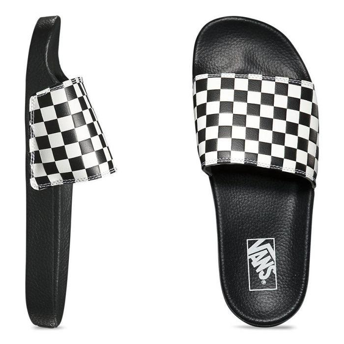 Shop Vans SLIDE-ON (CHECKERBOARD)WHITE  244c8fbef