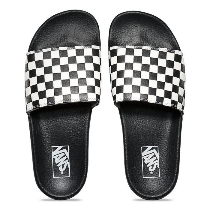 206e1546bf Shop Vans SLIDE-ON (CHECKERBOARD)WHITE