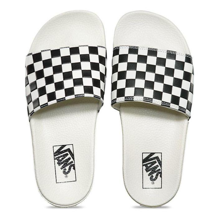 Shop Vans SLIDE-ON (CHECKERBOARD)WHT BLK  e959f8b04