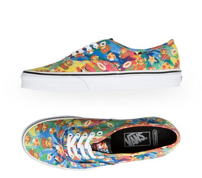 a84d4e8143 Shop Vans Authentic Super Mario Bros Tie Dye Super Mario Brothers Tie Dye