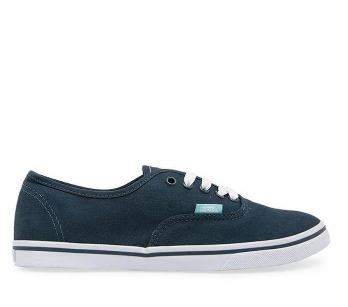 Shop Vans Authentic Lo Pro Midnight Navy Aqua  14b3df377f1b