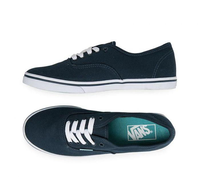 Shop Vans Authentic Lo Pro Midnight Navy Aqua  0cfcc2f62