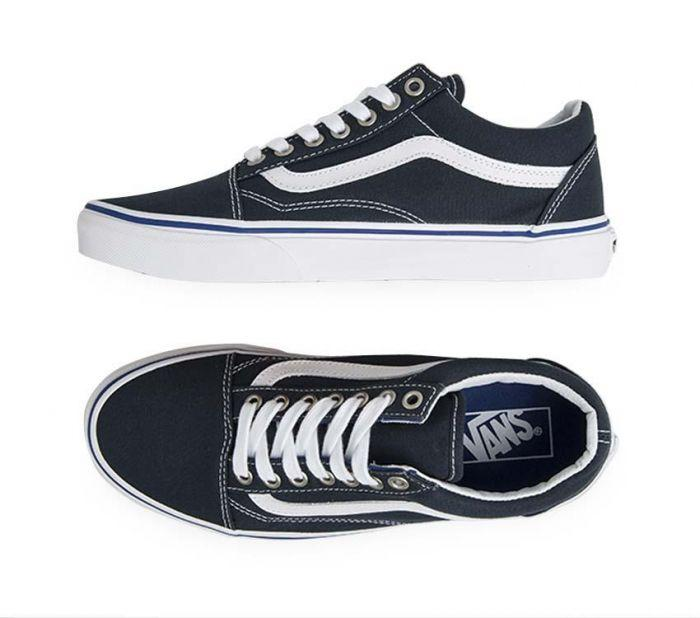 786f0e5ab9 Shop Vans Old Skool Midnight Navy True White