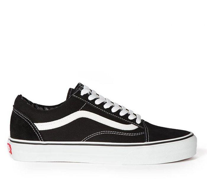 1563dc51bfc Shop Vans Kids Old Skool Black True White