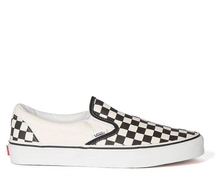 Shop Vans Classic Slip-Ons Black White (Checkerboard)  8aa6c9db9