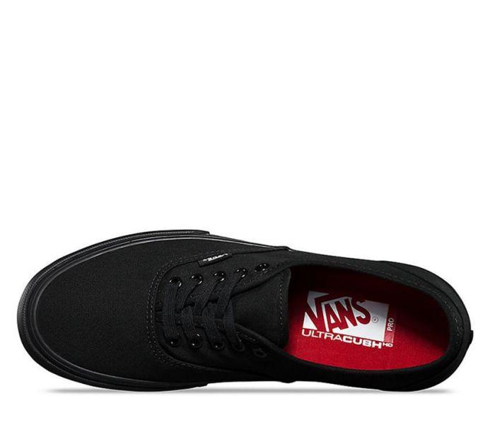 13a55e1fb9d Shop Vans AUTHENTIC PRO BLACK BLACK