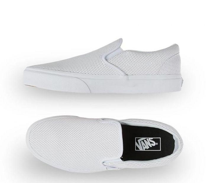 3c26babe6e Shop Vans Classic Slip-On White