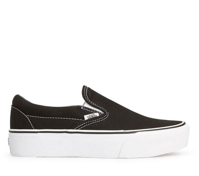 ba88259528503f Shop Vans CLASSIC SLIP-ON PLATFORM BLACK