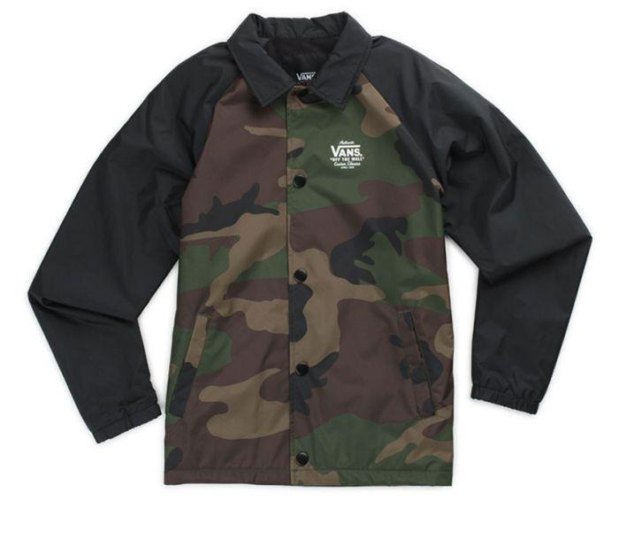 4db3323753 Shop Vans Apparel and Accessories Boys Torrey Oversized Camo Jacket ...