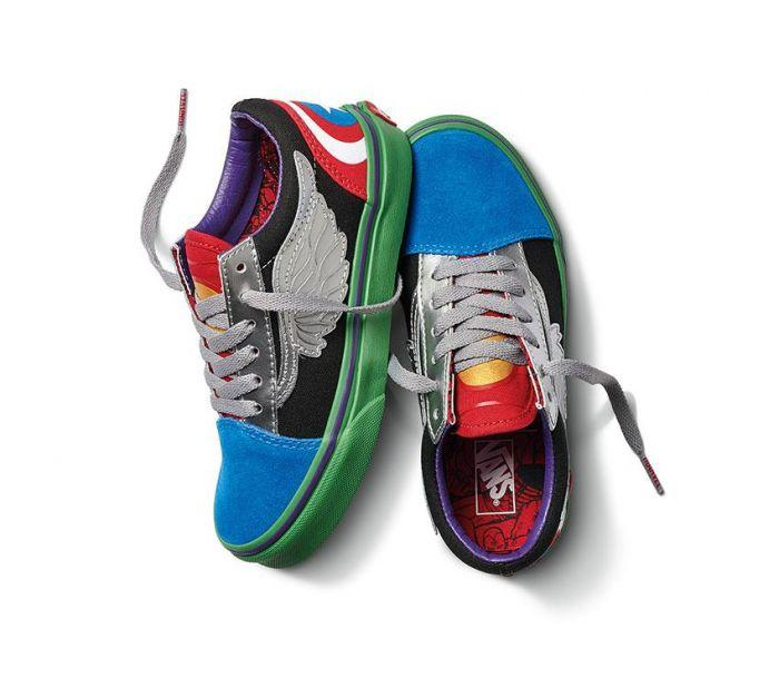 a338aba72361 Home  Vans x Marvel Avengers Old Skool Kids. Skip to the end of the images  gallery