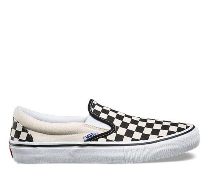 Shop Vans SLIP-ON PRO (CHECKERBOARD) BKW  f1051dcbe