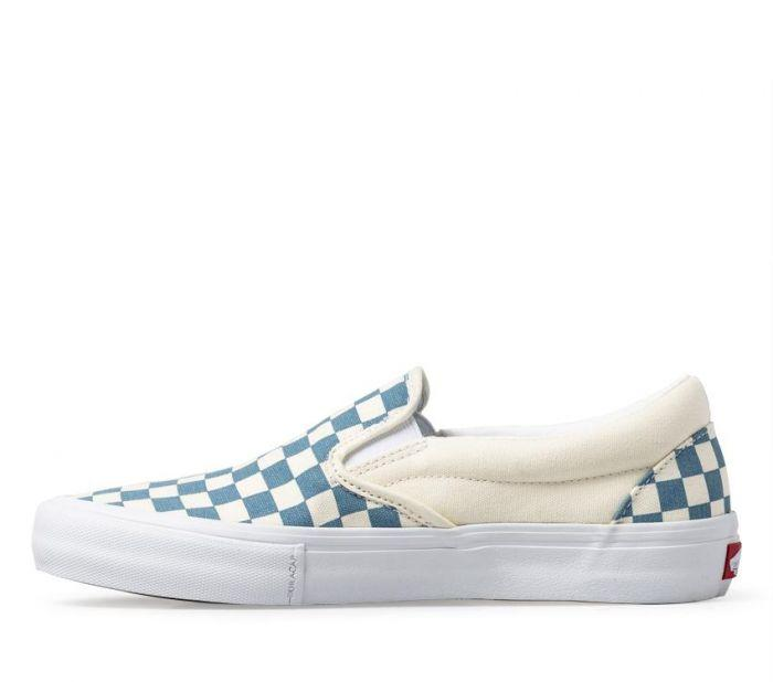 e0ed8f6eb5 Shop Vans SLIP-ON PRO (CHECKER) BLU WHT