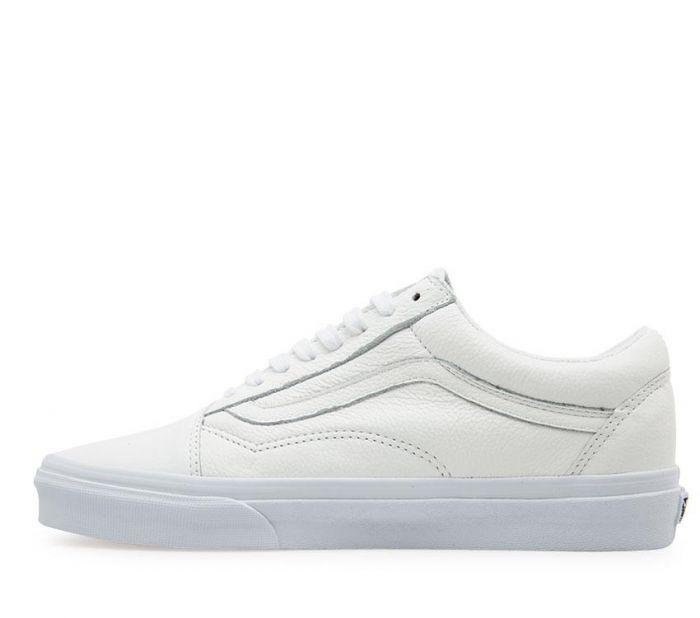5125b9f39dcd39 Shop Vans OLD SKOOL ZIP LEATHER TRU WHT