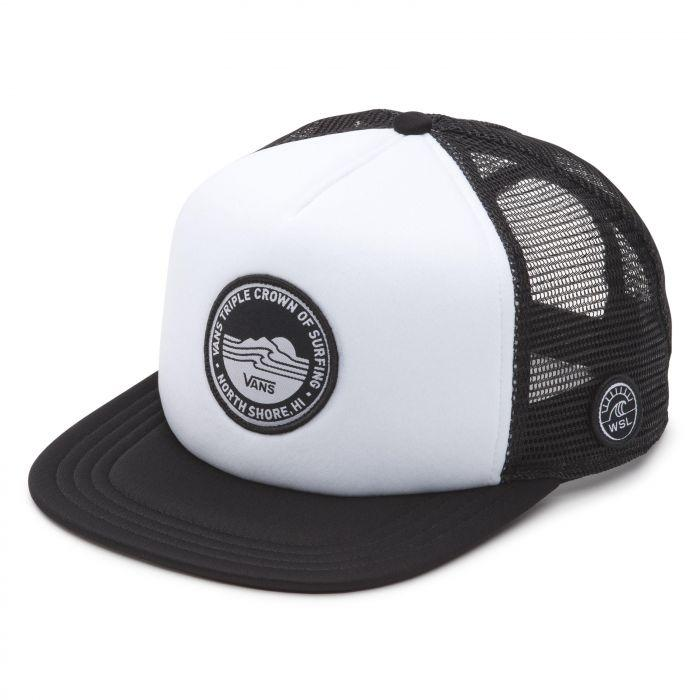 e1fb597e242f6 Shop Vans Apparel and Accessories VTCS LOCKUP TRUCKER WHT BLK