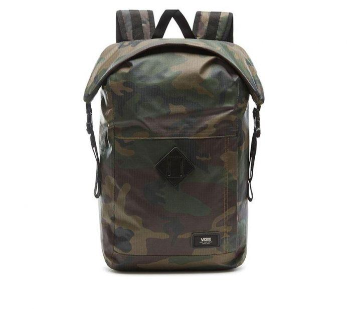 81c1fb123b Shop Vans Apparel and Accessories FEND ROLL TOP BPACK CLAS CAMO | Vans  Australia