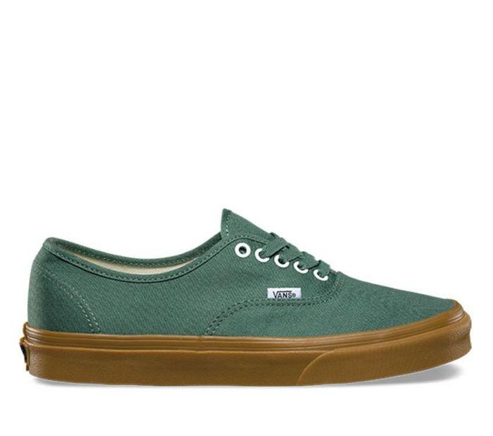 0f3ce82be29 Shop Vans AUTHENTIC DUCK GREEN GUM