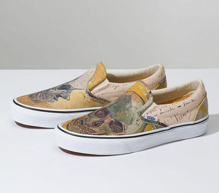 cbc1afd936e Home  Vans x Van Gogh Museum Skull Classic Slip On. Skip to the end of the  images gallery