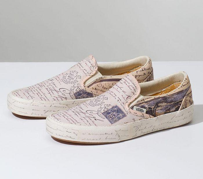 a09096c12f Home  Vans x Van Gogh Museum Letters Classic Slip On. Skip to the end of  the images gallery