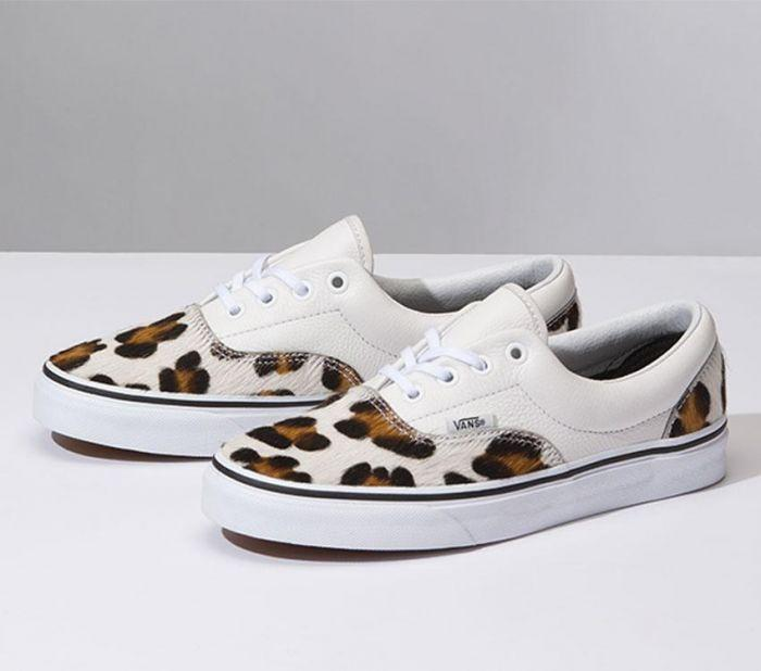 bb943e947d Shop Vans ERA (CALF HAIR) LEOP T WHT