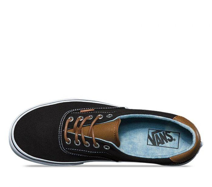 8037f76b9e74fe Shop Vans ERA 59 (C L) BLACK ACID DENIM