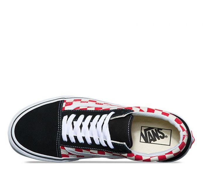 ee1f384178 Shop Vans OLD SKOOL (CHECKER) BLACK RED