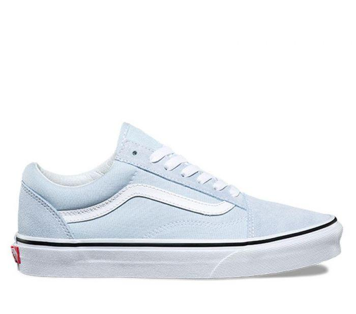 2535a7d96de Shop Vans OLD SKOOL BABY BLUE TRUE WHITE