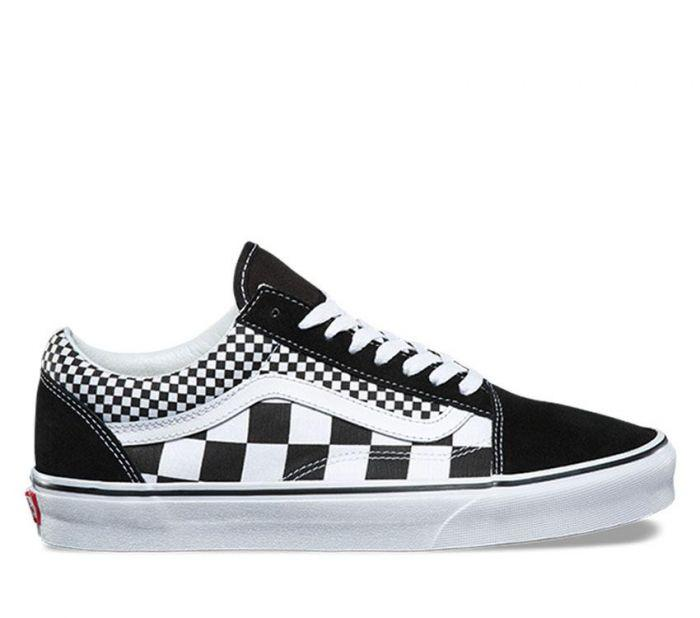 e12fff3fb2 Shop Vans OLD SKOOL (MIX CHECK) BLK T WT