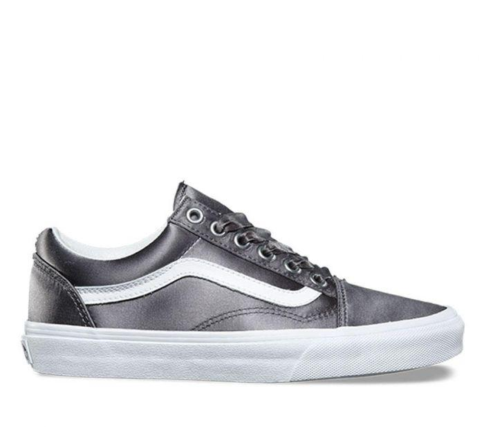 Shop Vans OLD SKOOL SATIN LUX GRY TR WHT  05769ee83