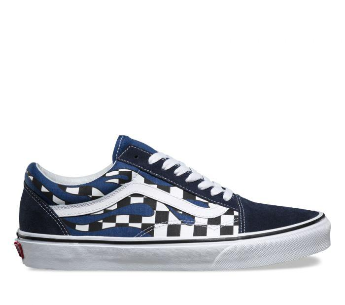 Shop Vans UA OLD SKOOL (CHKER FLM) NAVY  237fed5ce