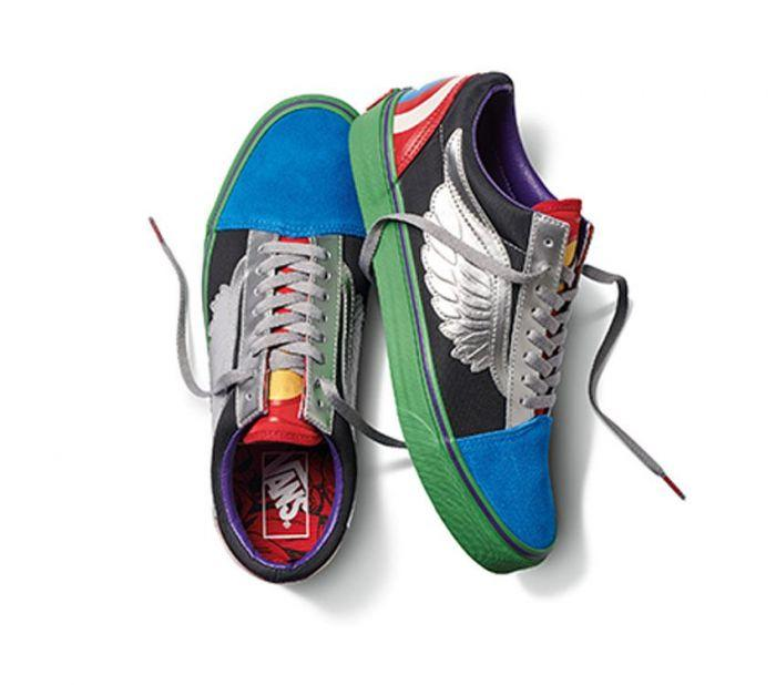eff80bff1be Shop Vans OLD SKOOL MARVEL AVENGERS MULT