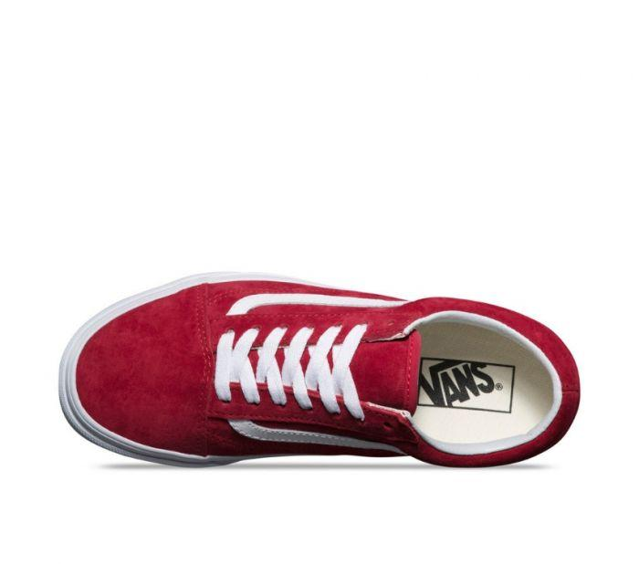 8bb0039fd3f985 Shop Vans Old Skool Suede Scooter Red White