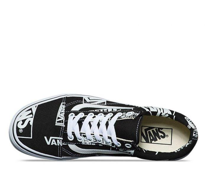 Shop Vans OLD SKOOL LOGO MIX BLACK WHT  bfc685052