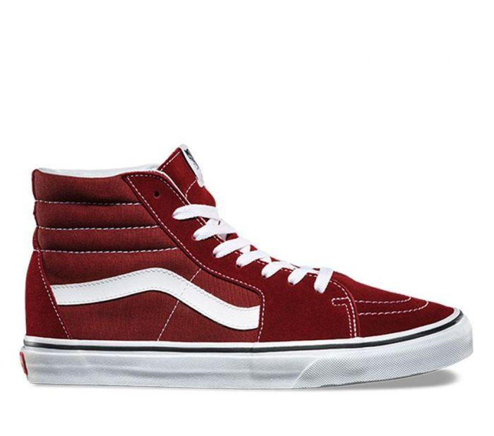 77c8d2b50442 Shop Vans SK8-HI MADDER BROWN  TRUE WHT