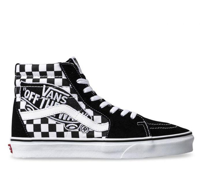 e0e77fc84b5483 Shop Vans Sk8-Hi Reissue Off The Wall Repeat