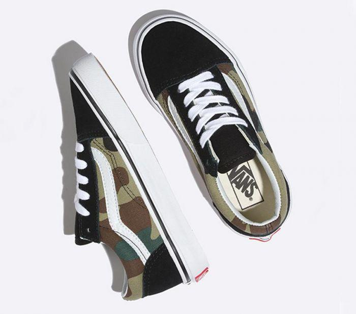 574fc862cc Shop Vans OLD SKOOL (WOODLAND CAMO) BLK