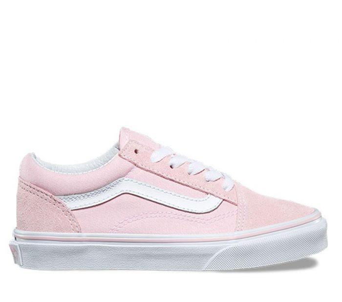 cb8b51652d Shop Vans OLD SKOOL (SDE CANV) CHALK WHT
