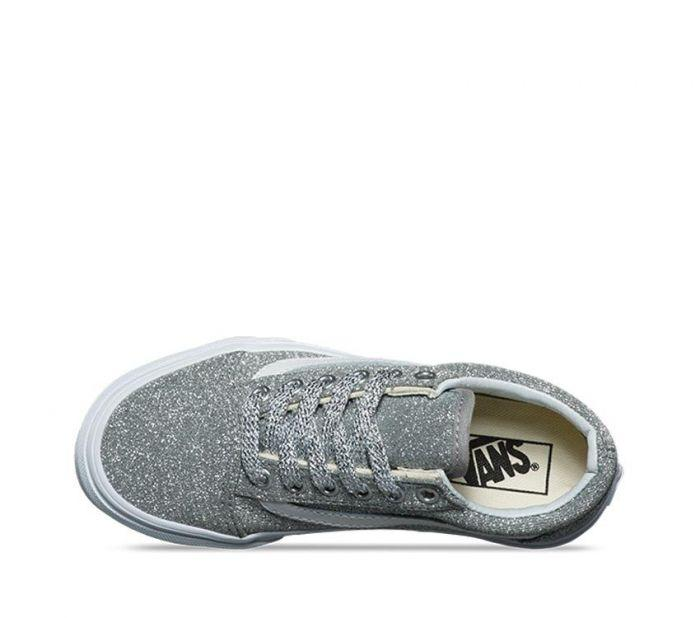 Shop Vans OLD SKOOL (LUREX GLITTER) SILV  8ad45064a