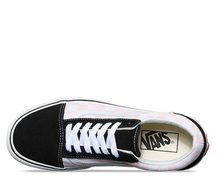 6b300297a00 Shop Vans OLD SKOOL PLAT (CHECK) BLK PNK