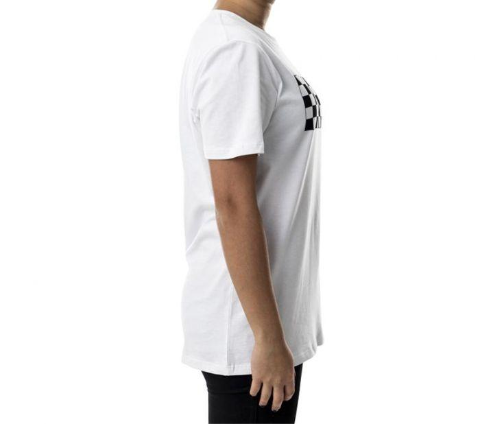 32bff5368a Shop Vans Apparel and Accessories AP CHECKER BOMB TEE WHITE