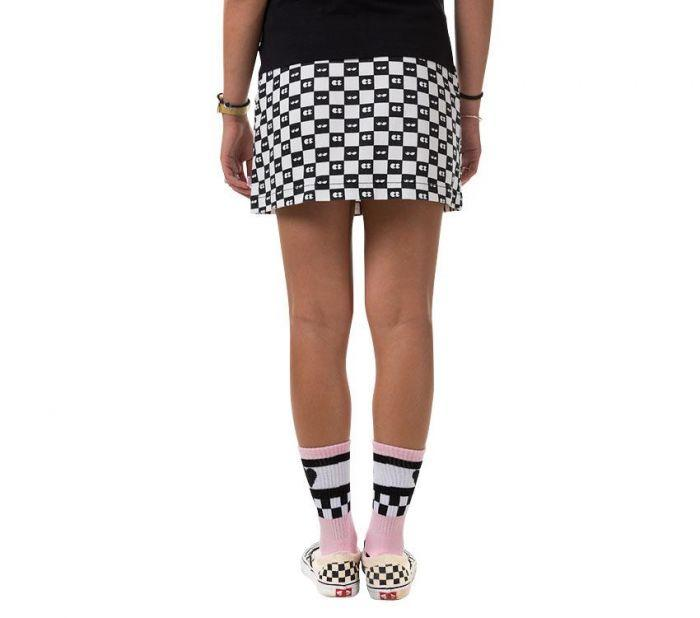 X Lazy Oaf Checkerboard Skirt - Check Vans For Nice kme0udZYM